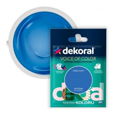 Tester farby Dekoral Voice of Color kobaltowy 0,05 l