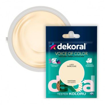 Tester farby Dekoral Voice of Color lody waniliowe 0,05 l