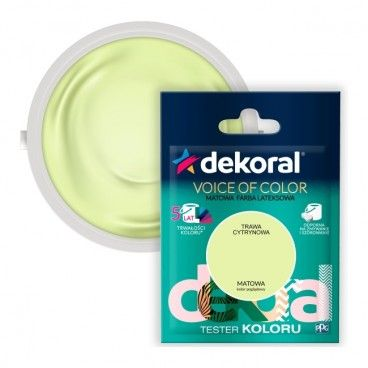 Tester farby Dekoral Voice of Color trawa cytrynowa 0,05 l
