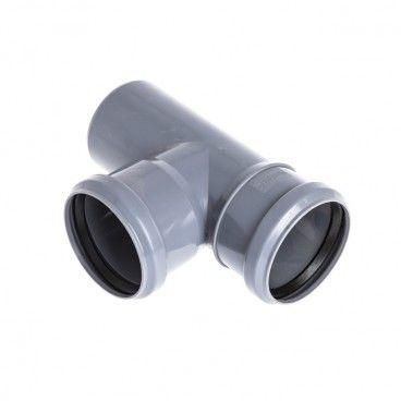 Trójnik Pipelife 90° 75 / 50 mm