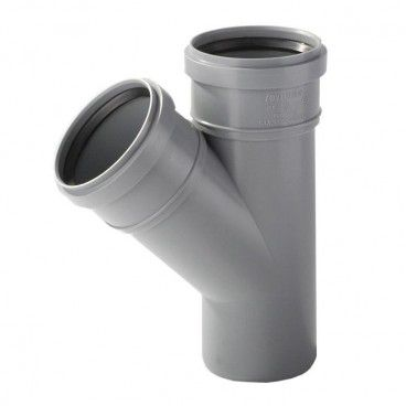 Trójnik kanalizacyjny Pipelife 45° 50 / 50 mm