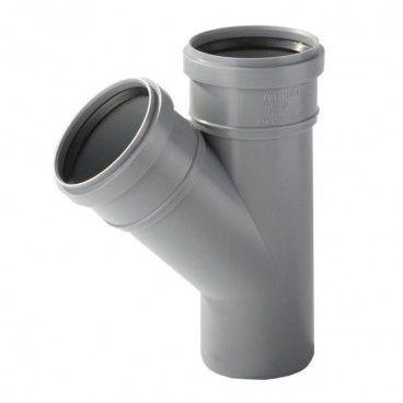 Trójnik kanalizacyjny Pipelife 67° 50 / 50 mm szary