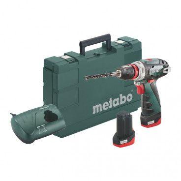 Wiertarko-wkrętarka akumulatorowa Metabo PowerMaxx Quick 12 V 2 x 2,0 Ah