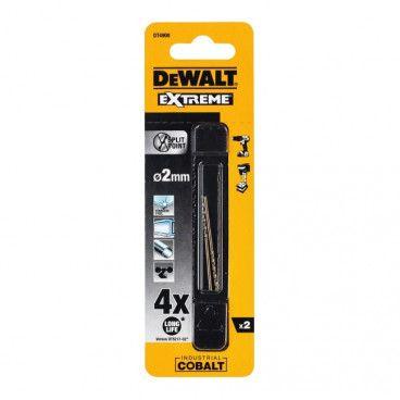 Wiertła kobaltowe DeWalt Extreme Cobalt 2,0 mm 2 szt.