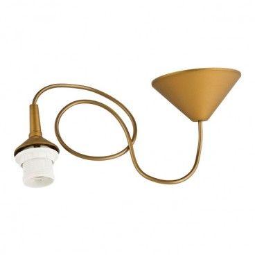 Zawiesie do lampy 1 x 60 W E27 złote