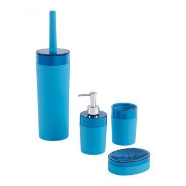 Zestaw akcesoriów łazienkowych Cooke&Lewis Doumia niebieski