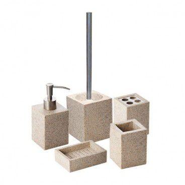 Zestaw akcesoriów łazienkowych Cooke&Lewis Dvina piaskowy