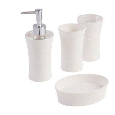 Zestaw akcesoriów łazienkowych Cooke&Lewis Manza biały