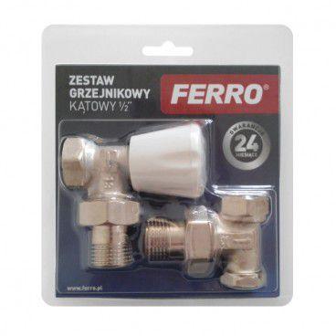 """Zestaw grzejnikowy kątowy Ferro 1/2"""""""