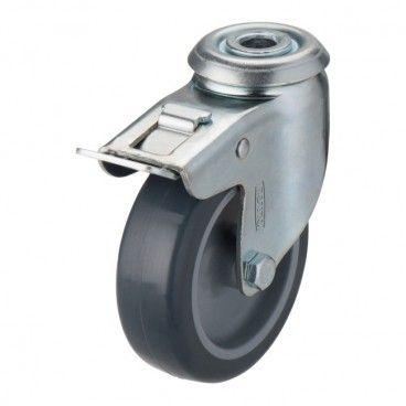 Zestaw jezdny Tente fi 75 mm 60 kg otwór obrotowy M11 z hamulcem