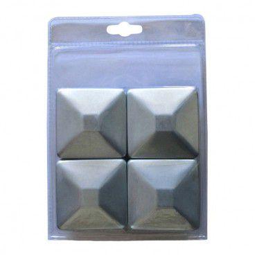 Zestaw kapturków Blooma metalowy 7,1 x 7,1 cm ocynk 4 szt.