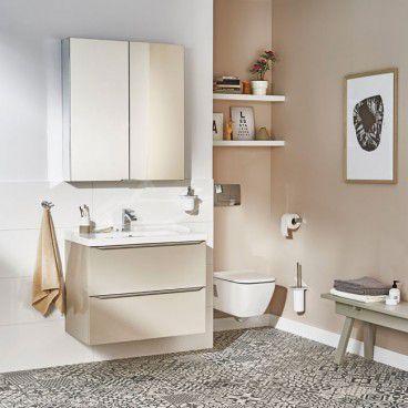 Zestaw mebli łazienkowych Imandra 80 cm taupe z umywalką Lana