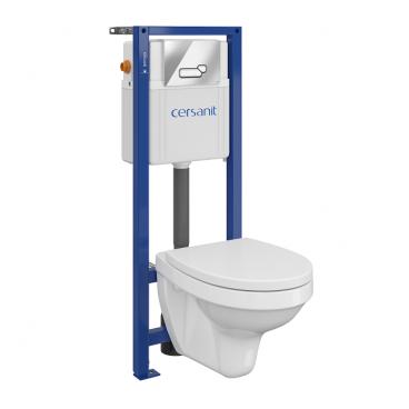 Zestaw podtynkowy WC Cersanit Inteo z deską wolnoopadającą przycisk chrom