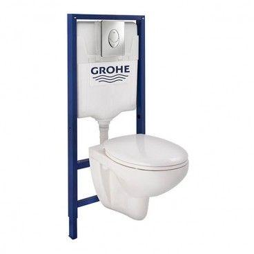 Zestaw podtynkowy WC Grohe Geo Rimless z deską wolnoopadającą