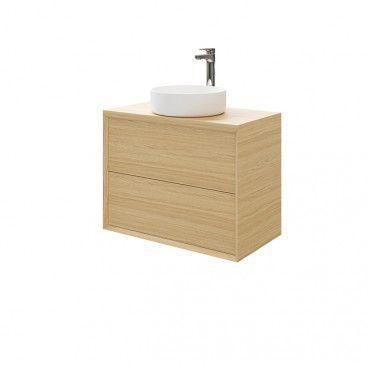 Zestaw szafka łazienkowa GoodHome Avela 80 cm z umywalką Apanas, baterią i blatem