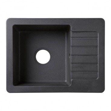 Zlewozmywak granitowy Burnell 1-komorowy z półociekaczem czarny
