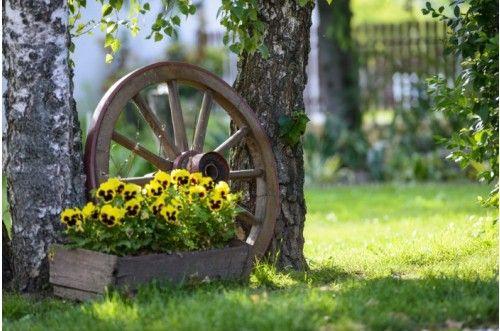 Dekoracja ogrodu inspiracje i porady - Wagenrad dekorieren ...