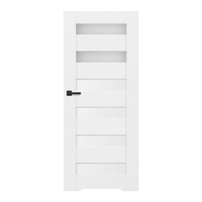 Drzwi Pokojowe Trame 80 Lewe Białe Drzwi Jednoskrzydłowe