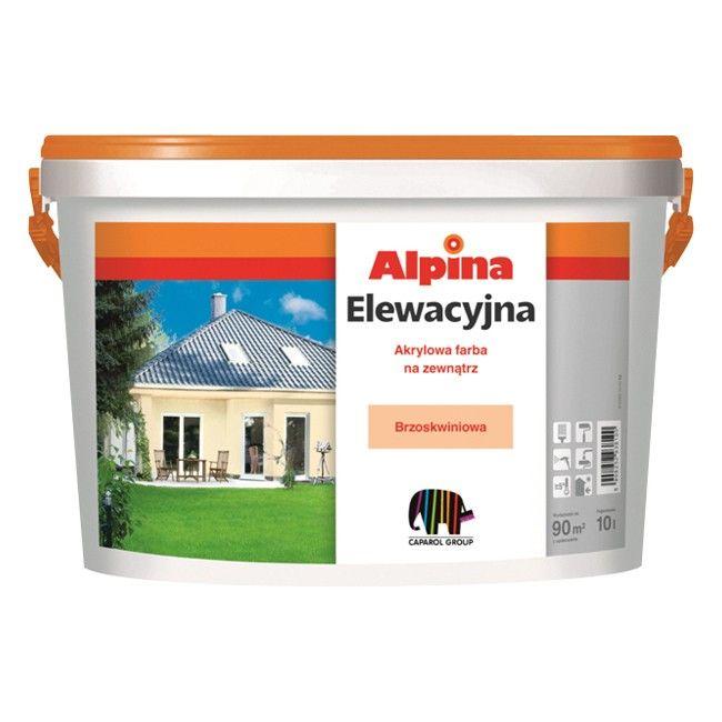 farba elewacyjna alpina ceglasty 10 l farby zewn trzne farby i tynki zewn trzne malowanie. Black Bedroom Furniture Sets. Home Design Ideas