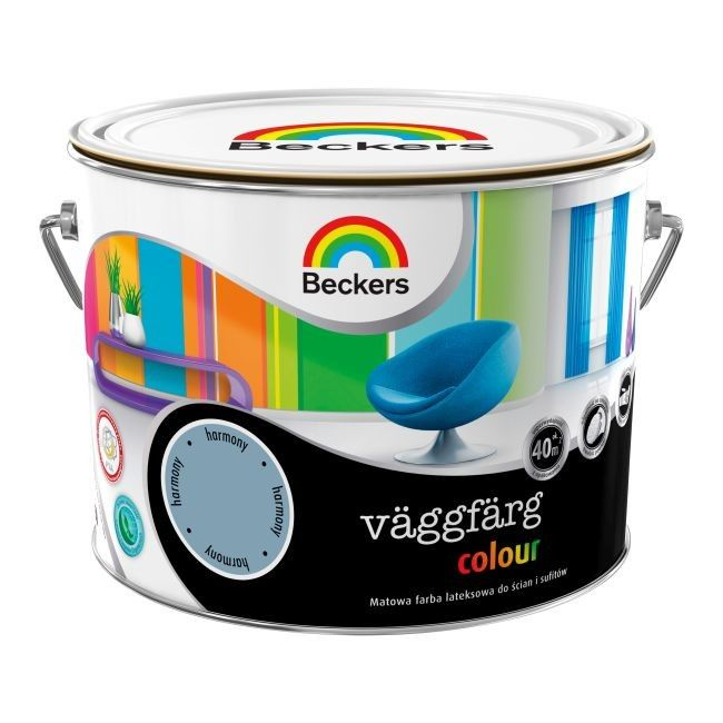 Farba Lateksowa Beckers Vaggfarg Colour Pacific 2 5 L