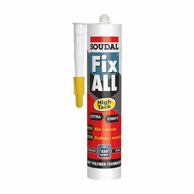 Klej-uszczelniacz Soudal Fix All High Tack biały 290 ml