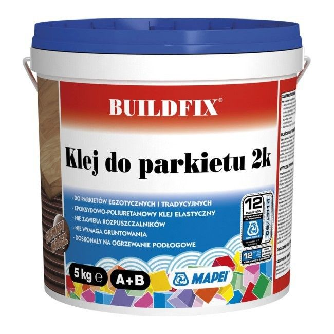 Klej dwuskładnikowy do parkietu Buildfix 2k ciemny brązowy 5 kg