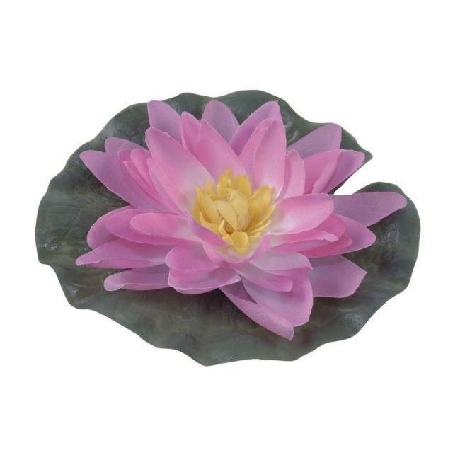 Lilia wodna jedwabna Greenmill fi 15 cm różowa