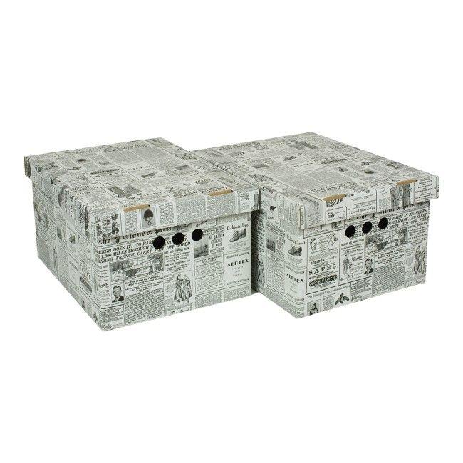 Pudło City Xl 2 Szt Kartony Dekoracyjne Pojemniki I Kartony