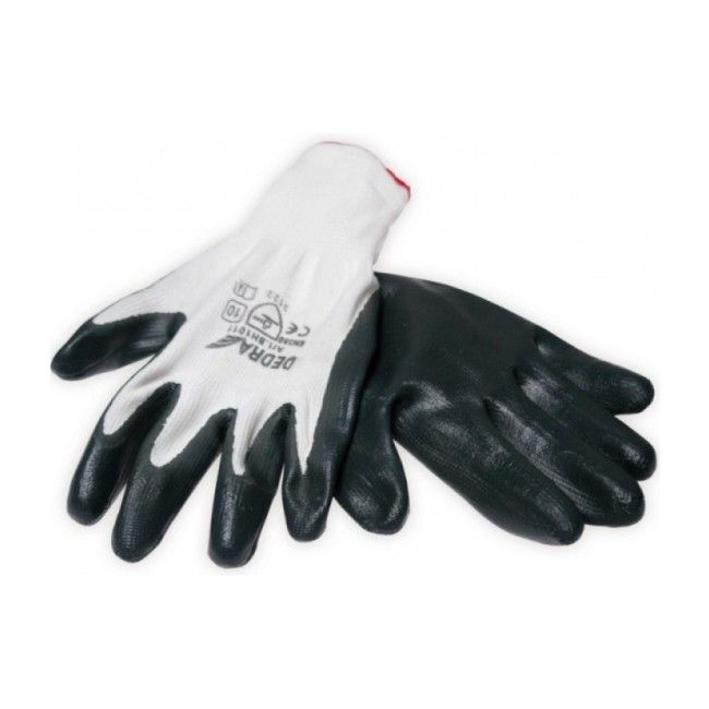 Rękawice ochronne Dedra pokryte nitrylem