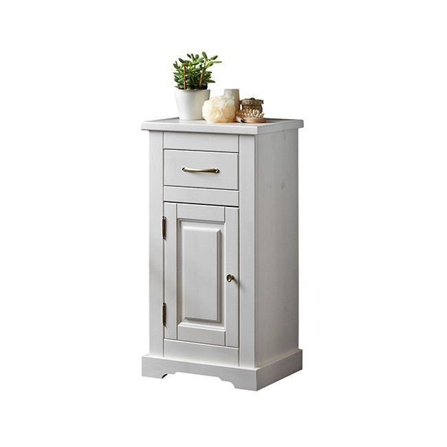 Szafka niska Romantic biała 45 x 85 x 30 cm
