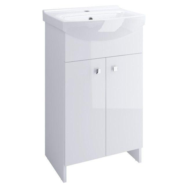 Zestaw Szafka Z Umywalką Cersanit Sati 40 Cm Biały Pod Umywalkę