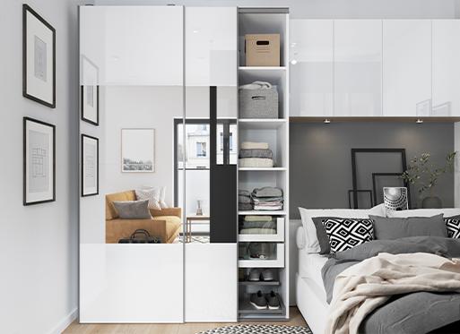 Mieszkanie typu studio z produktami Atomia i Alara