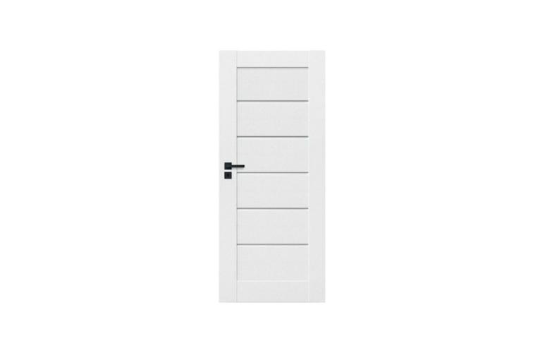Białe pełne drzwi