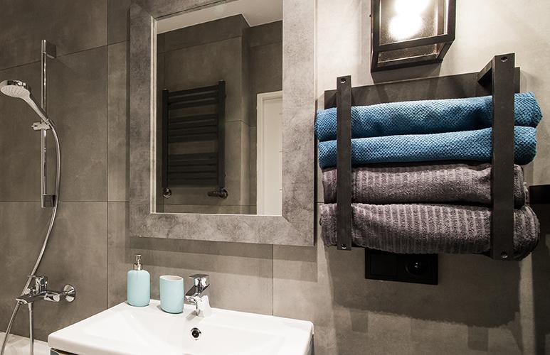 wieszak na ręczniki DIY