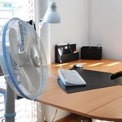 wentylator w biurze