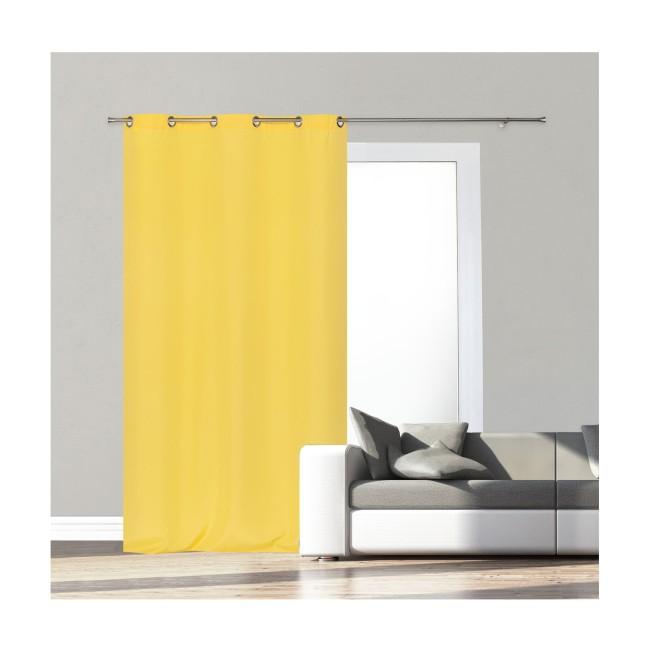 żółta zasłona