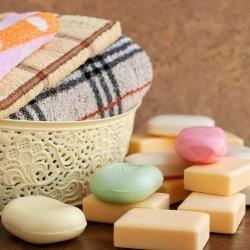 Kolorowe mydłow kostce