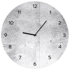 Zegar Glassclock Wall koło fi 30 cm