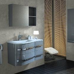 Зеркальный шкаф Cooke & Lewis Grey 80 x 16,5 x 55 см, серый