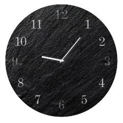 Zegar Glassclock Carbon koło fi 30 cm