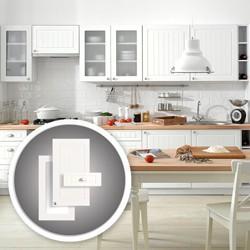 Szafka kuchenna wisząca z witryną 2-drzwiowa Piano Biały WW-80/2