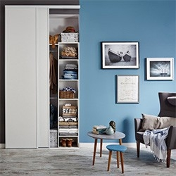 Zestaw drzwi przesuwnych Form 265 x 120 cm biały