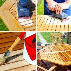 Odnowa mebli ogrdowych drewnianych