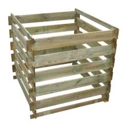 drewniany, gotowy kompostownik