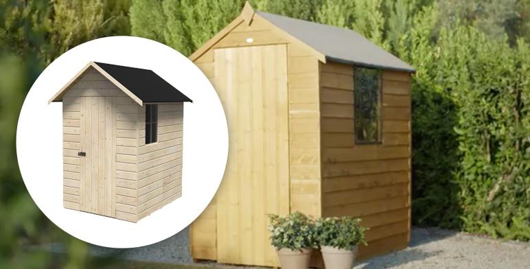 domek narzędziowy z drewna