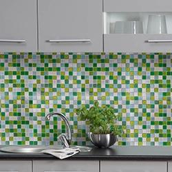 mozaika zielony niebieski kuchnia