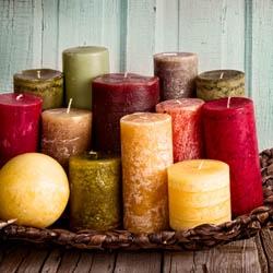 Kolorowe świeczki z wosku pszczelego