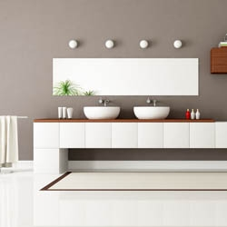 Zestaw nowoczesnych mebli łazienkowych