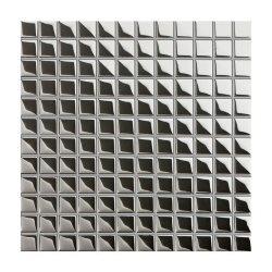 Mozaika szklana Ceramika Pilch 30 x 30 cm srebrna