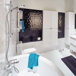 minimalistyczna łazienka glazura